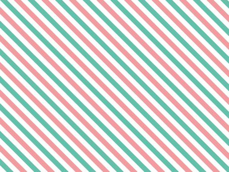 스트라이프 ● 핑크 × 에메랄드
