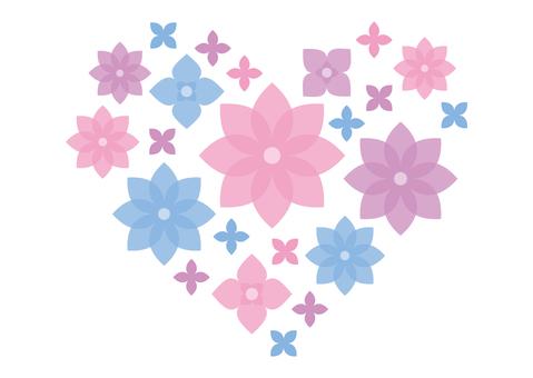 꽃 하트 소재