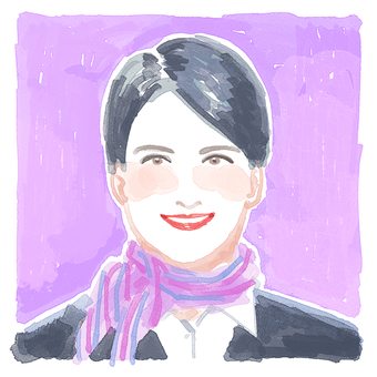 Stylish watercolor style CA illustration icon