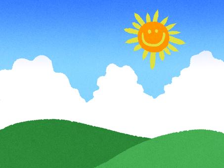 여름 풍경 산 벽지