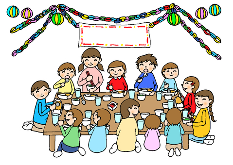 Dinner party 15 (children's Japanese style decoration available)