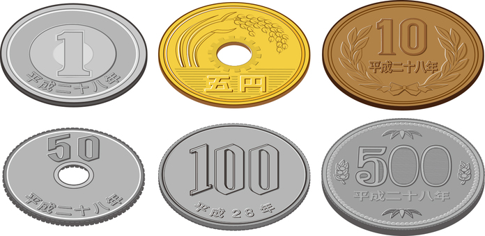 Heisei 28 year coins 6 simple simple naamée