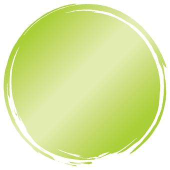 Brush brush e_ yellow green gradation_v 8