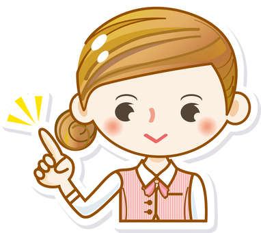 Female girl cute cute salesperson finger pointing OL