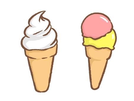 아이스크림과 소프트 크림