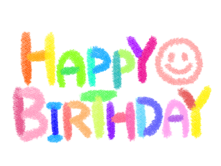 Happy birthday chalk colorful