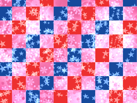 Blue and pink grid pattern pretty