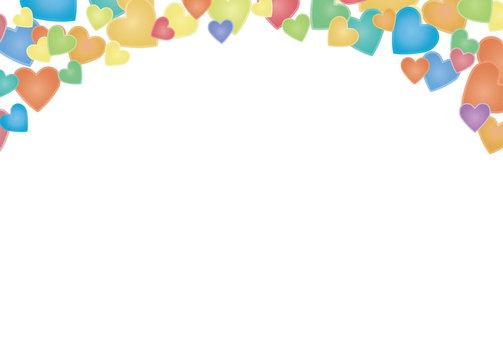 Pastel Heart postcard template 2