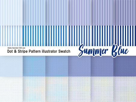Pattern set summer blue