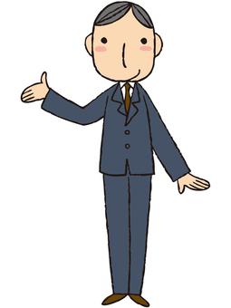 Employee (hand holding)