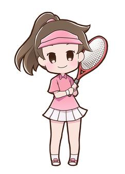 女子テニスプレイヤー01_C