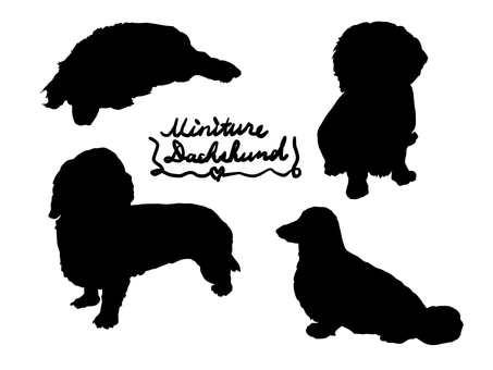 Miniature dachsh silhouette