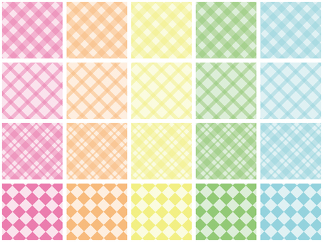 20 pastel diagonal checks