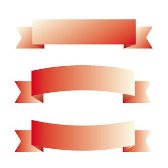 Ribbon frame (red)