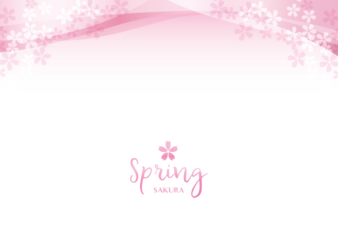 Spring background frame 026 Cherry transparent feeling