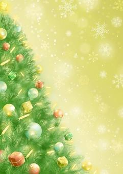 Christmas tree and snowflake