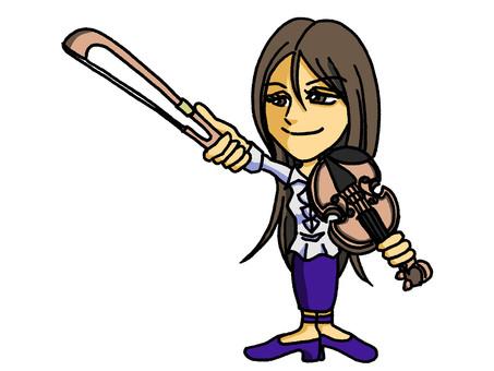 정렬 바이올린 여자