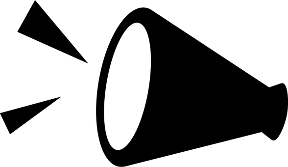 Megaphone silhouette icon