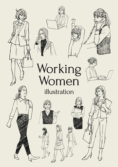 Working lady illustration