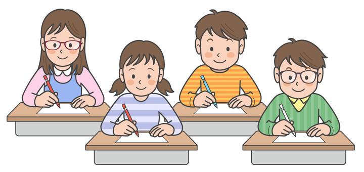 学校 小学生 クラスメイト イラスト