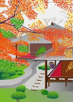 Autumn leaves of Shukuin