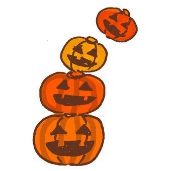 かぼちゃおばけ4連