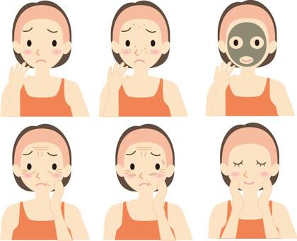 Skin care woman set