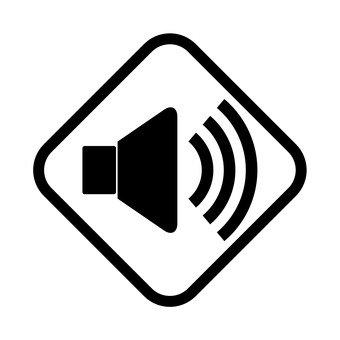 Audio monochrome icon