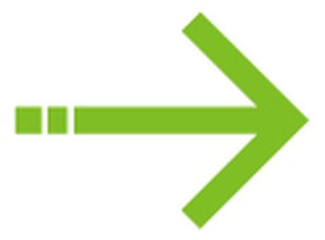 Single line arrow _ green