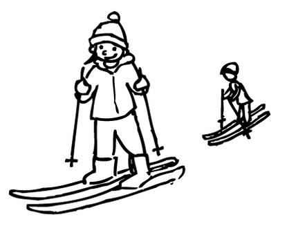 Skiing ①