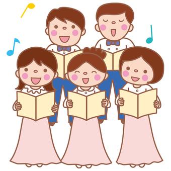 Chorus (mixed with men and women)