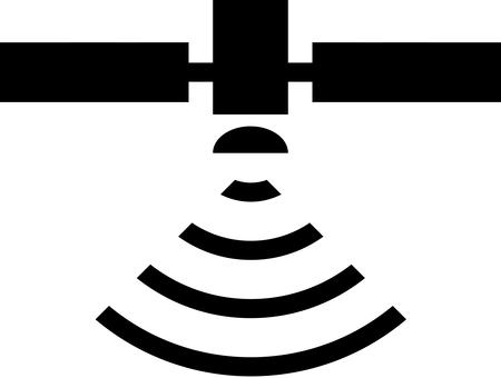 Satellite gps icon mark
