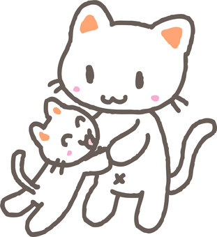 Together with a kitten