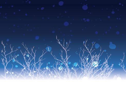 Night sky branch frame