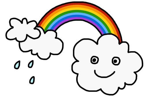 Rain and rainbow 2