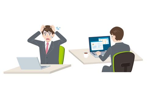Impatient on PC & businessmen behind the scenes