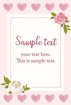 Flower card pink 01