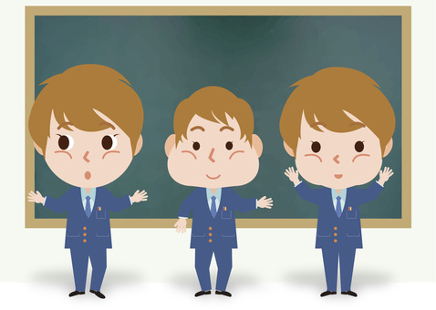 Round triangle square face students