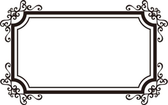 Decoration frame rectangle