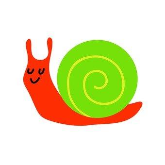 An orange snail
