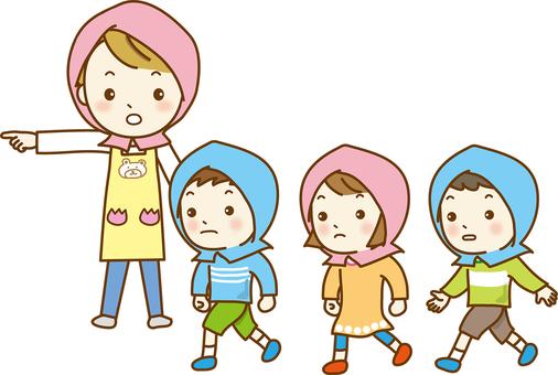 Evacuation training children