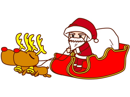 Santa Claus on the Sled