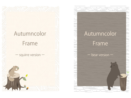 Autumn color frame set ver23