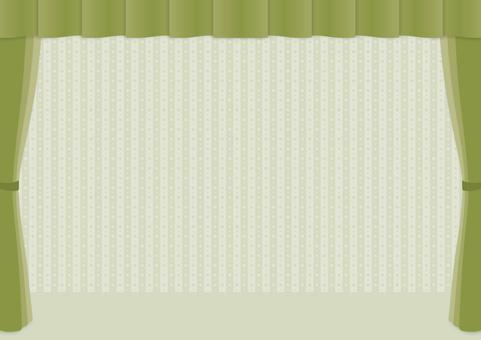 Curtain frame _ green