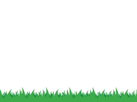 Grass decorative frame