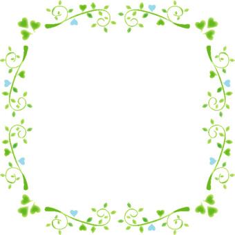 나뭇잎 프레임 4