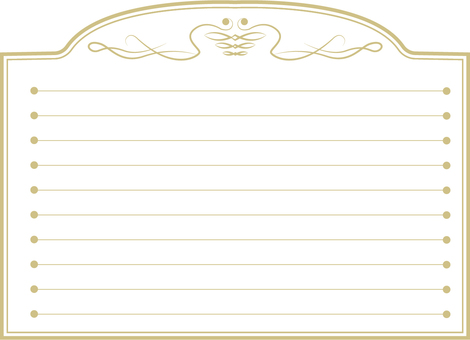 Simple frame (gold frame frame 21)