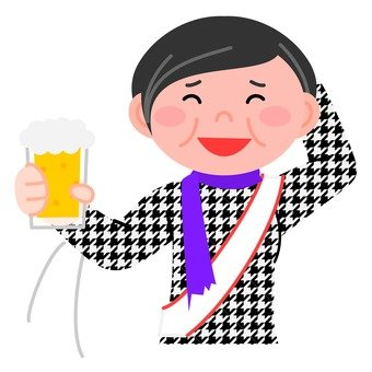 A veteran woman taking a toast with a smiley smile