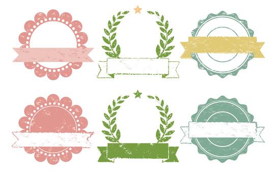 Stamp-like frame set