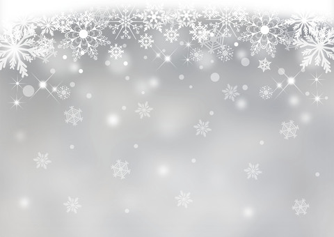 Snow crystal _ gray background
